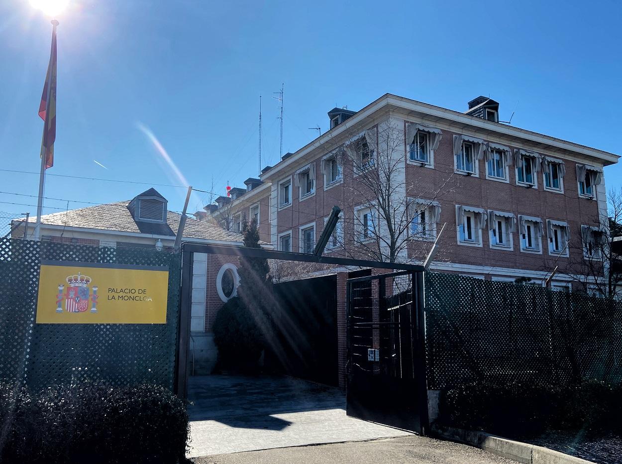 Entrada al Palacio de la Moncloa, sede de la Presidencia del Gobierno, en Madrid. E.P/Eduardo Parra
