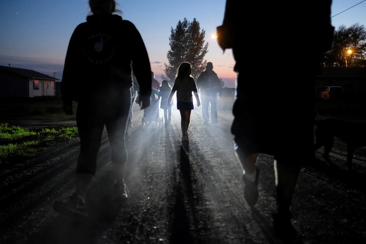 Cedremonia de nativos americanos en Canadá. REUTERS