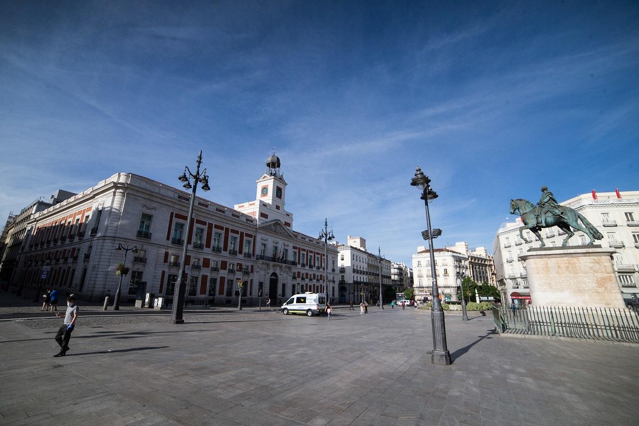 Vista general de la Puerta del Sol de Madrid. E.P./Joaquin Corchero