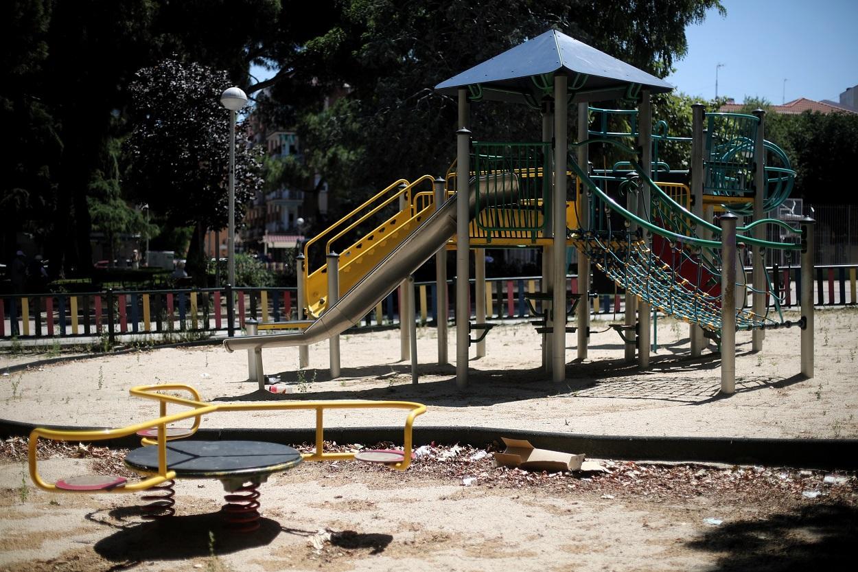 Parque infantil en Madrid. E.P./Eduardo Parra