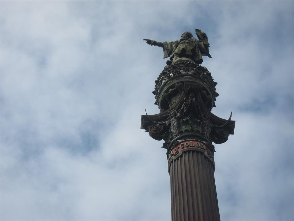 Monumento a Colón en Barcelona. EUROPA PRESS