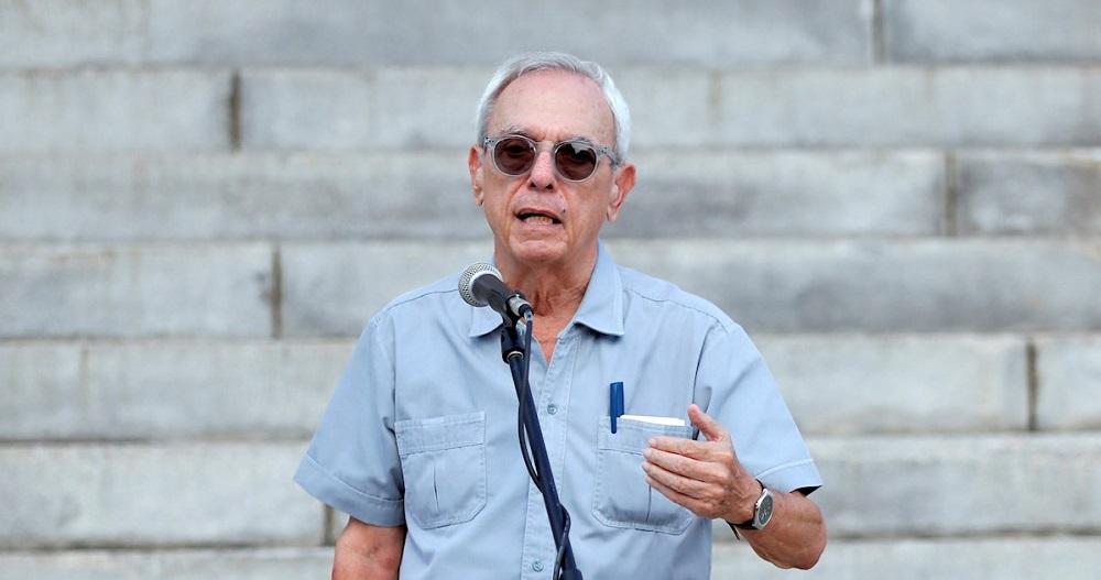 Fotografía de archivo del 30 de agosto de 2019, del historiador cubano Eusebio Leal durante el acto de presentación de la cúpula dorada del Capitolio en La Habana (Cuba). EFE/EPA/ Ernesto Mastrascusa
