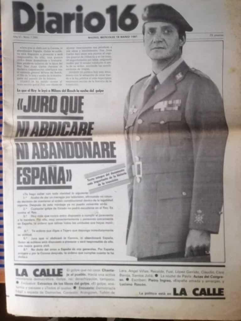 Portada de 'Diario16', 18 de marzo de 1981