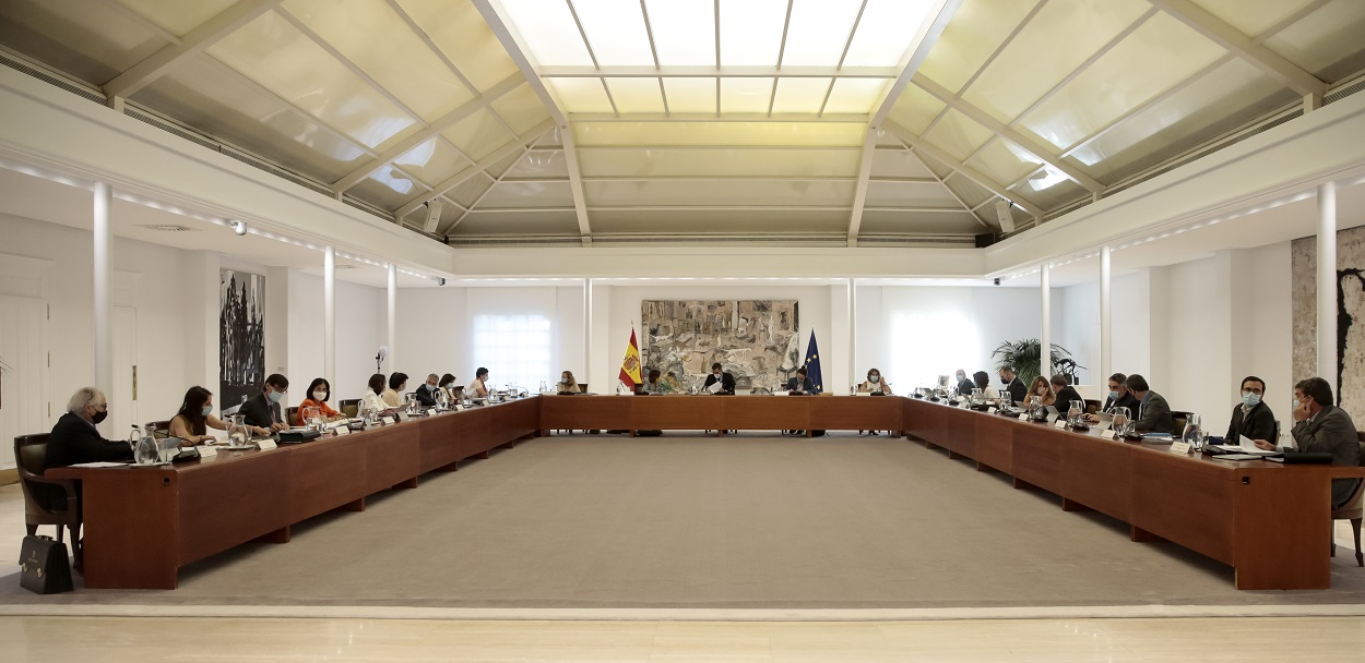 Reunión del Consejo de Ministros en el Palacio de la Moncloa. E.P./Moncloa