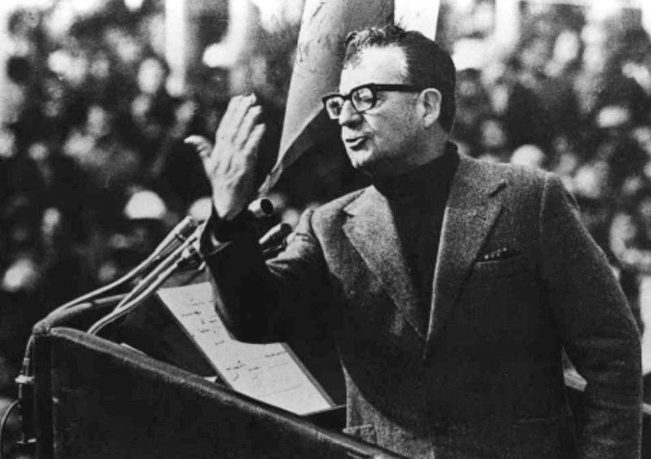 Discurso de Salvador Allende en 1973. REUTERS