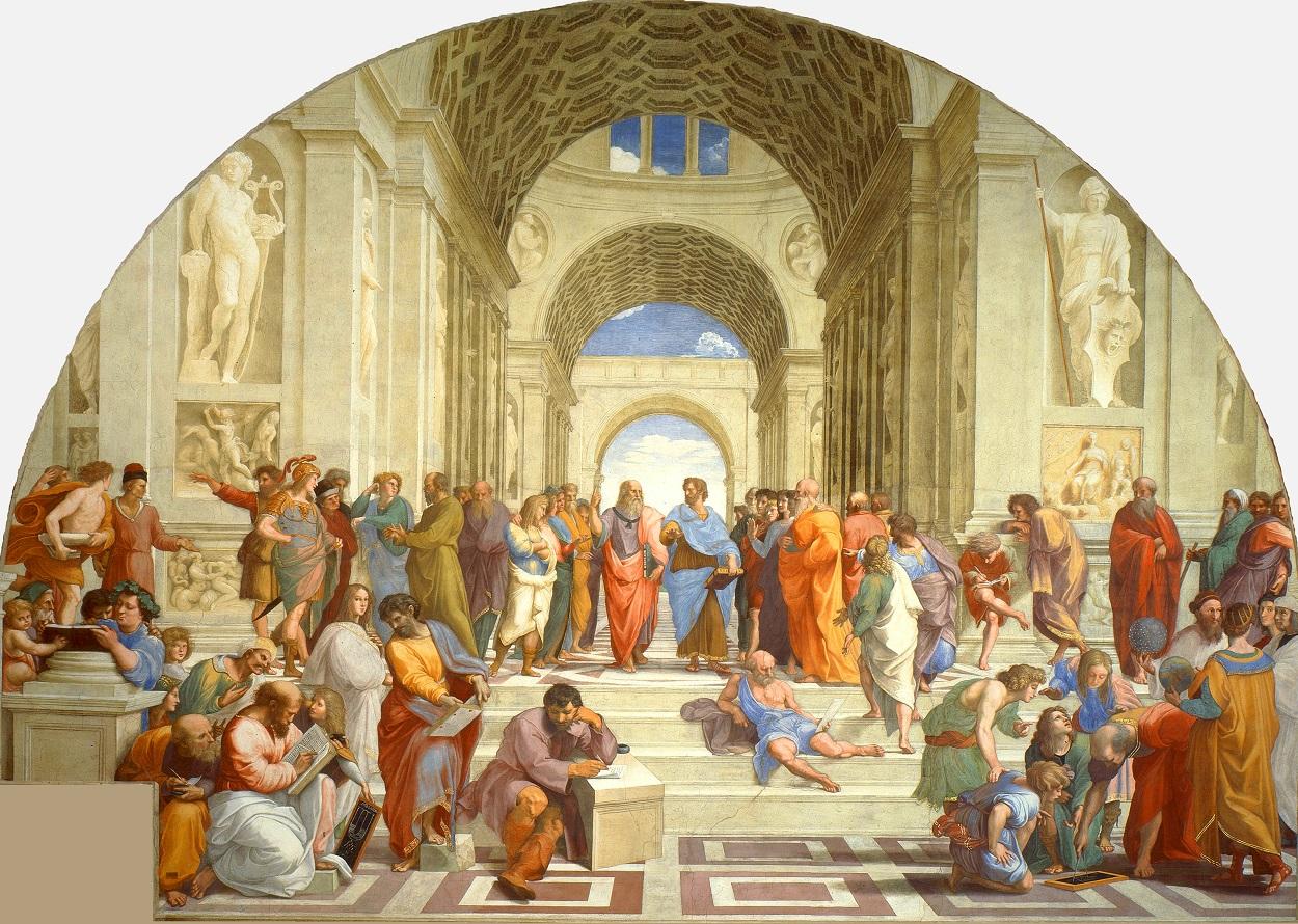 'La escuela de Atenas', fresco de Rafael Sanzio, en el Vaticano.