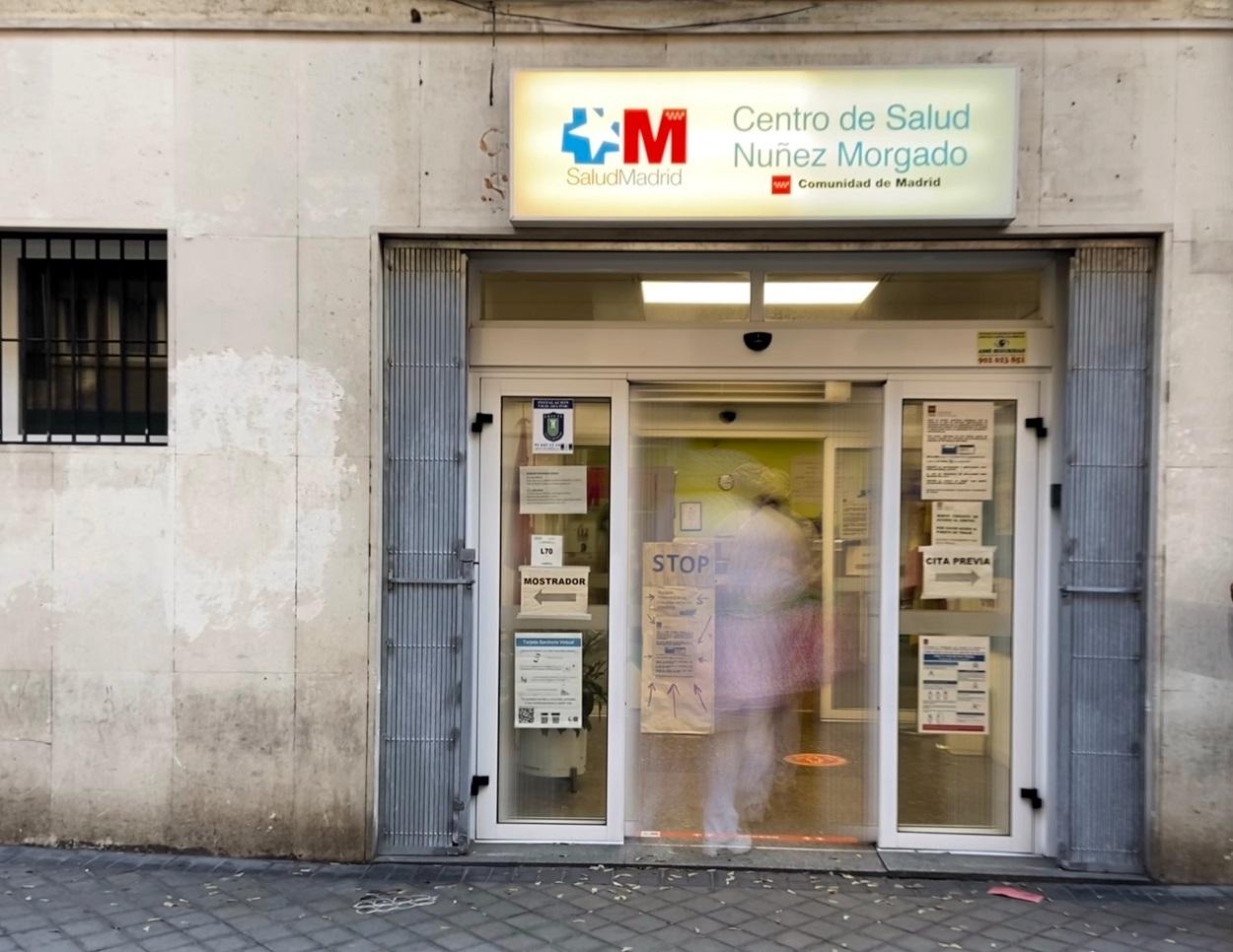 El centro de salud Núñez Morgado, en el distrito de Chamartín, en Madrid. E.P./Eduardo Parra