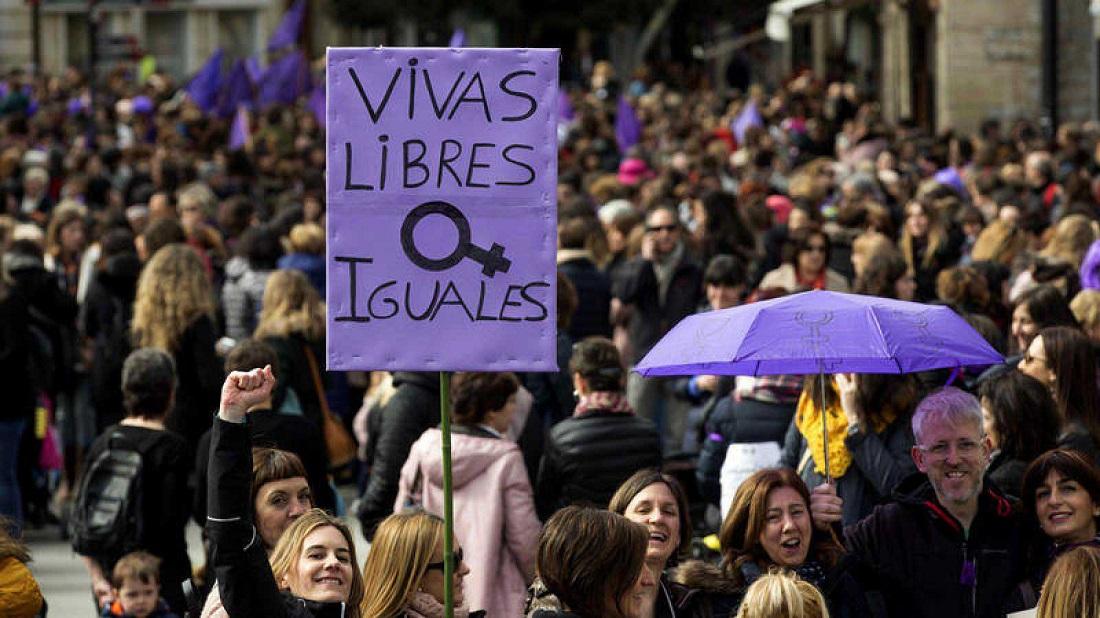 Manifestación del 8M, por el Día Internacional de la Mujer. EFE/ DAVID AGUILAR