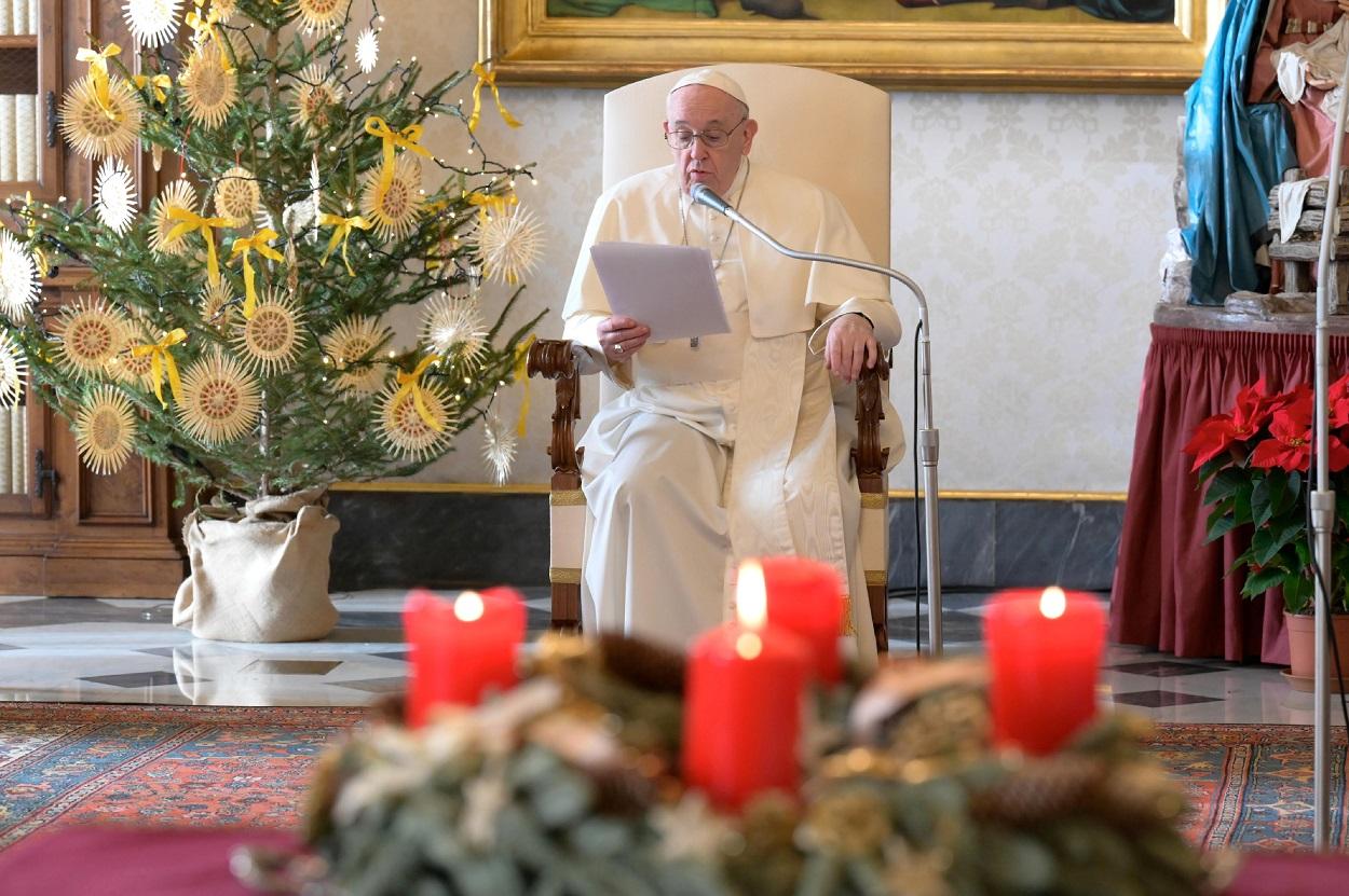 El Papa Francisco, durante la audiencia general semanal en la Biblioteca del Palacio Apostólico, en el Vaticano. REUTERS