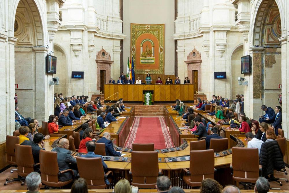 Vista del Pleno del Parlamento de Andalucía. EFE