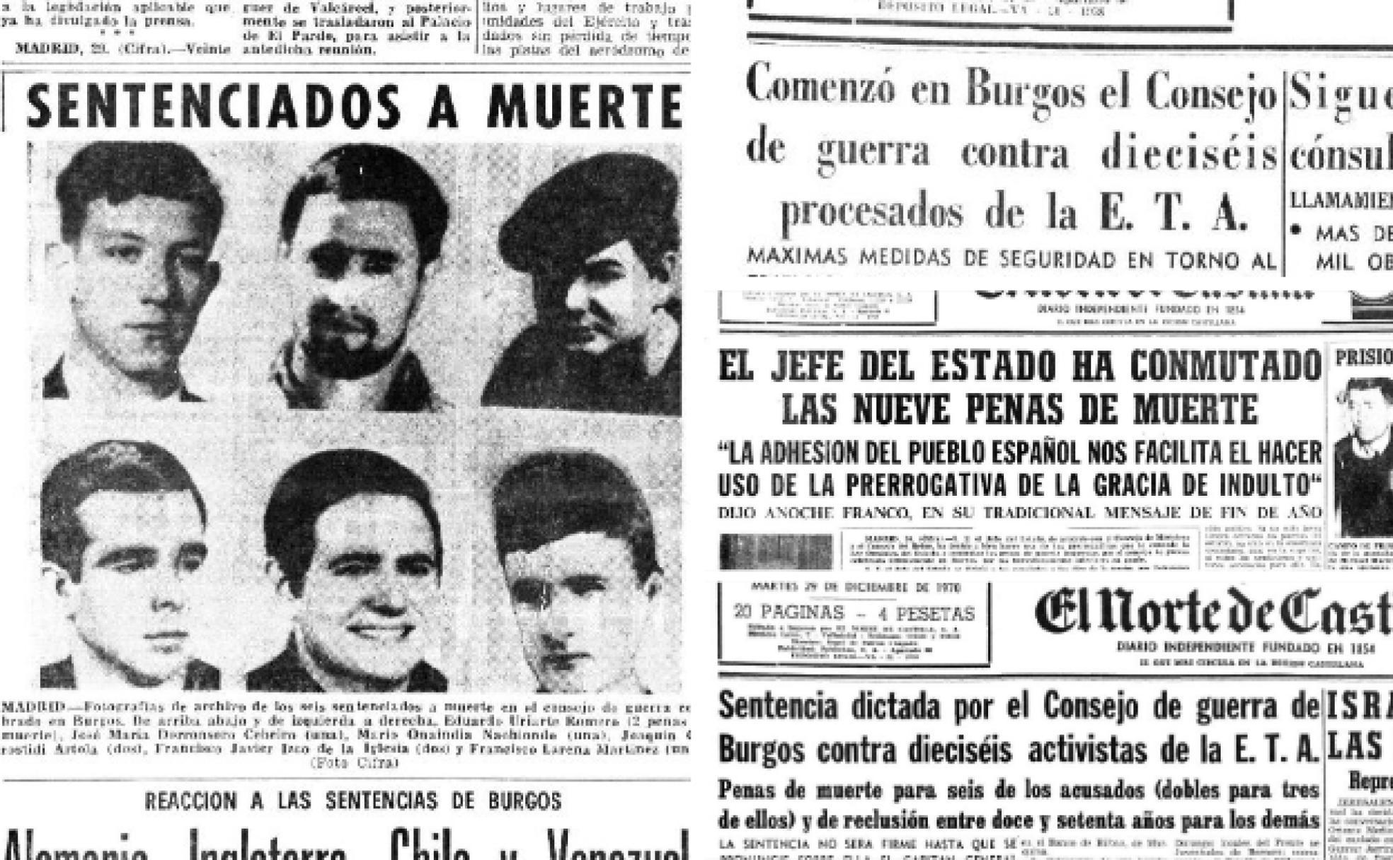Recortes de prensa sobre el Proceso de Burgos.