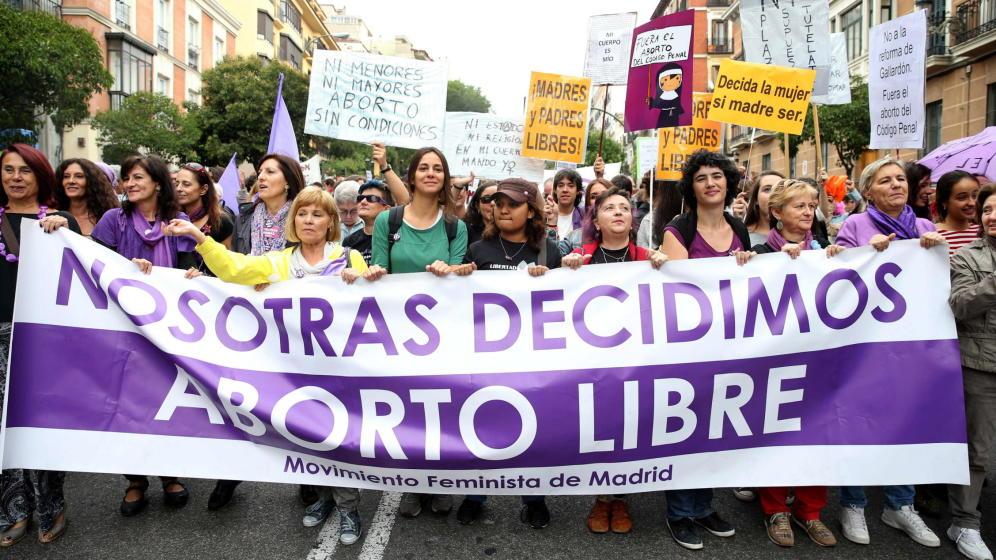 Manifestación de Madrid con motivo del Día Internacional por la Despenalización del Aborto./ EFE