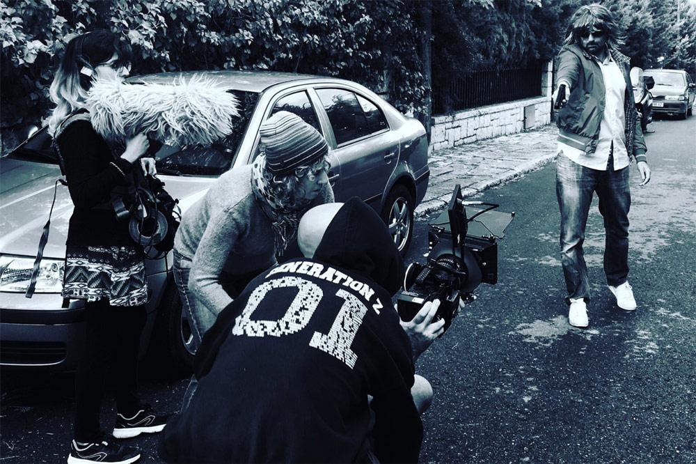 Momento del rodaje del documental 'Biografía del cadáver de una mujer', dirigido por Mabel Lozano.