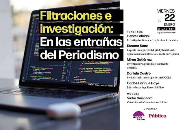 Cartel del debate en Espacio Público.