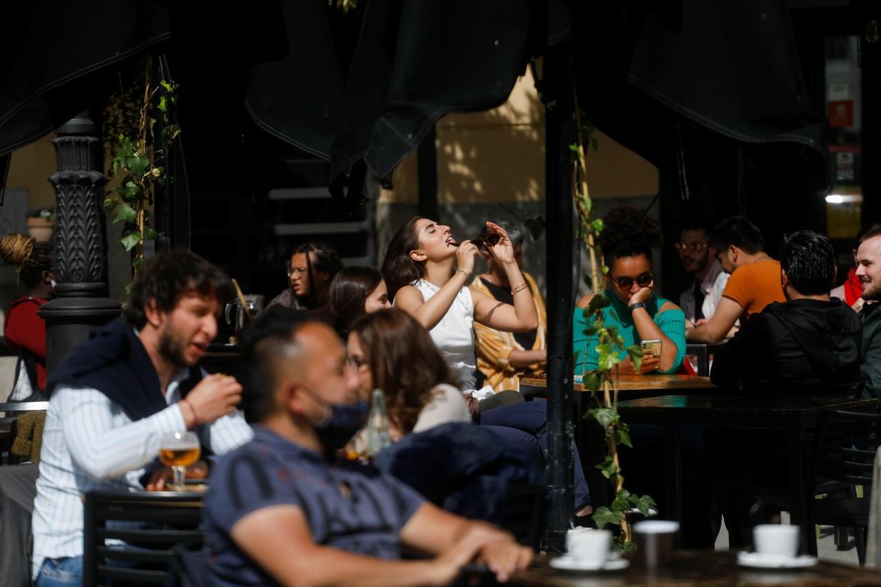 Terraza de un restaurante en Madrid. Susana Vera / Reuters