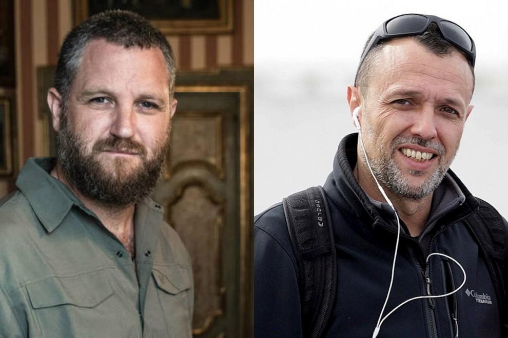 Los periodistas David Beriáin y Roberto Fraile. — Dmax | EFE