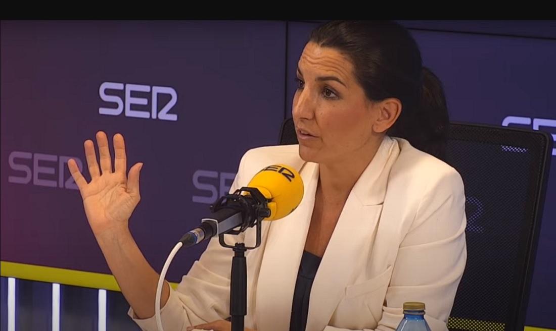 La candidata de Vox a la Comunidad de Madrid, Rocío Monasterio, durtante el debate electoral en la Cadena SER.