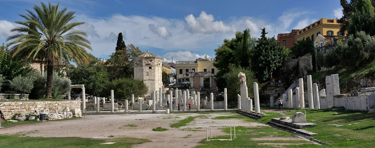 Restos del Ágora romana de Atenas. WIKIPEDIA