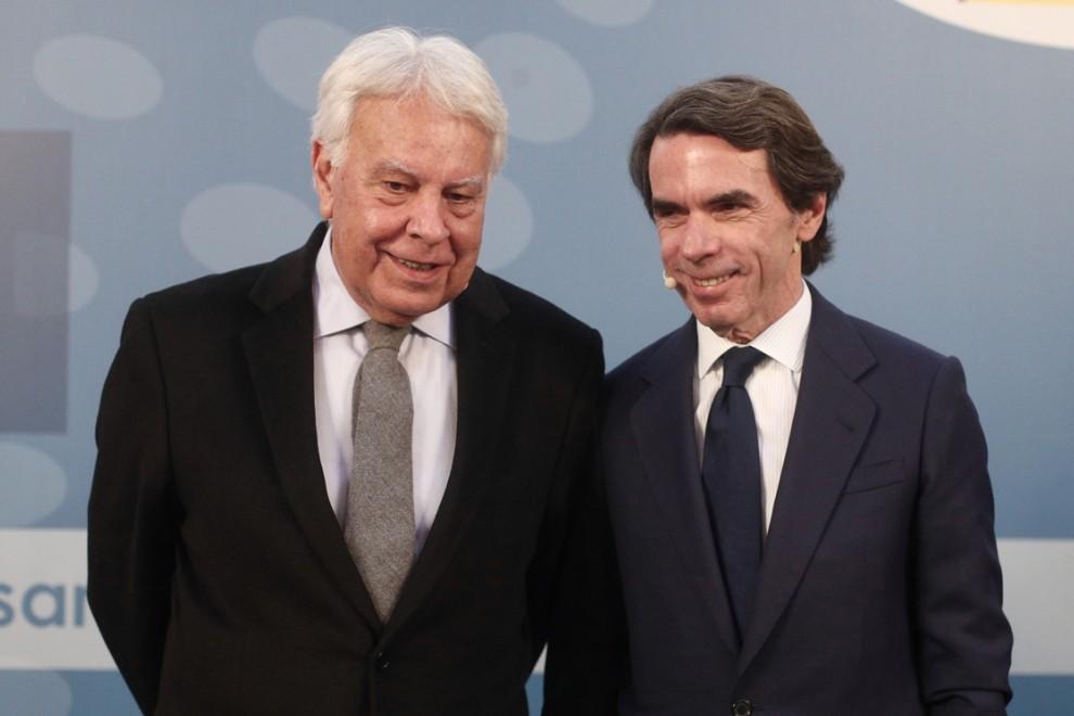 Los expresidentes Felipe González (i) y José María Aznar, en una imagen de archivo. - Eduardo Parra/ EUROPA PRESS