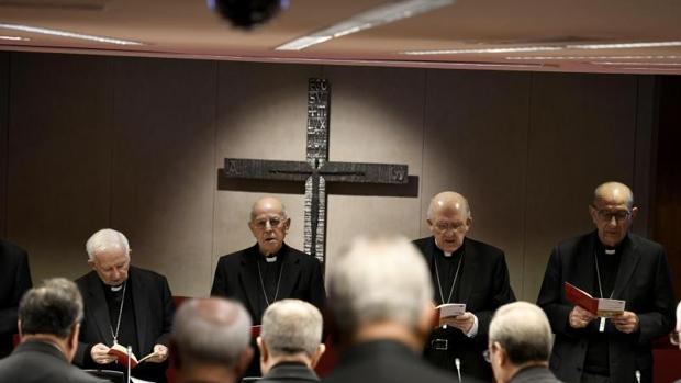 Celebración de un plenario de la Conferencia Episcopal Española. EFE