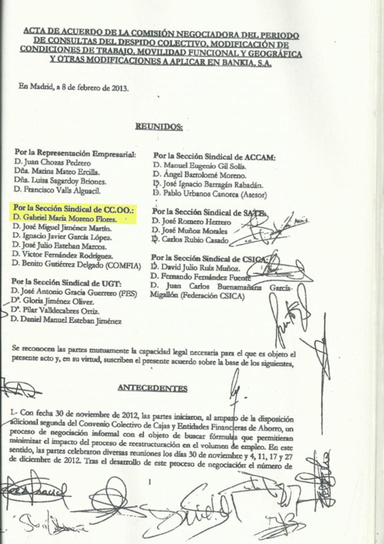 Firma Gabriel Moreno-Flores Bankia Tarjeta Black