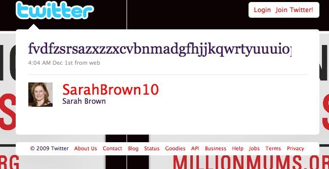 Twitter de Sarah Brown