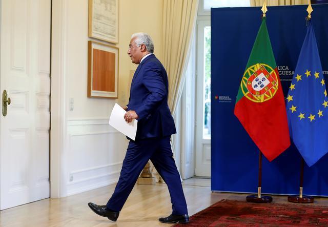 El primer ministro de Portugal, Antonio Costa, tras una comparencia en el Palacio de Sao Bento, en Lisboa. REUTERS/Pedro Nunes