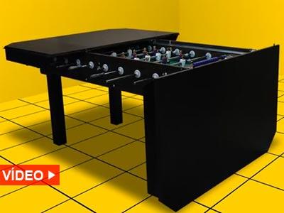 Soccer table un futbol n escondido en la mesa eureka for Mesa futbolin decathlon