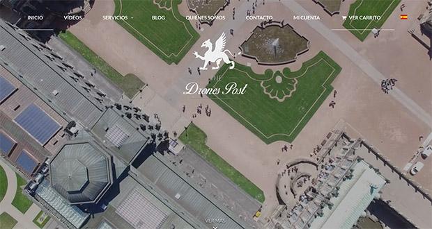 Página web de 'The Drones Post'