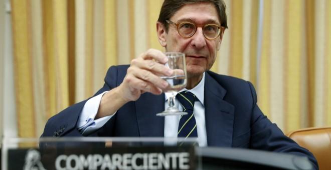 El presidente de Bankia, José Ignacio Goirigolzarri, momentos antes de su comparecencia ante la Comisión de Investigación de la crisis financiera España del Congreso de los Diputados. EFE/Chema Moya