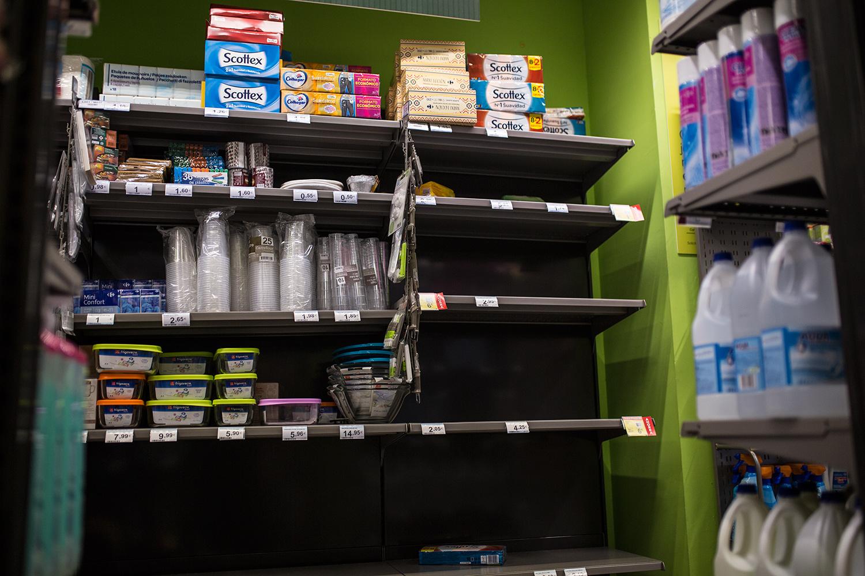 Coronavirus y papel higiénico: el efecto contagio. / FOTO: JAIRO VARGAS