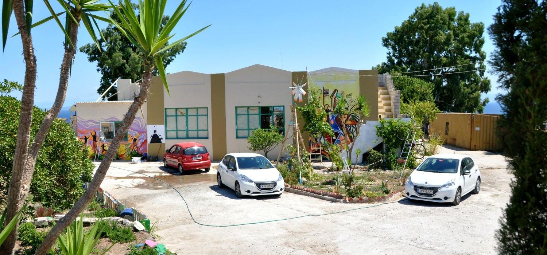 Centro comunitario 'One Happy Familiy' (OHF) situado en la isla de Lesbos