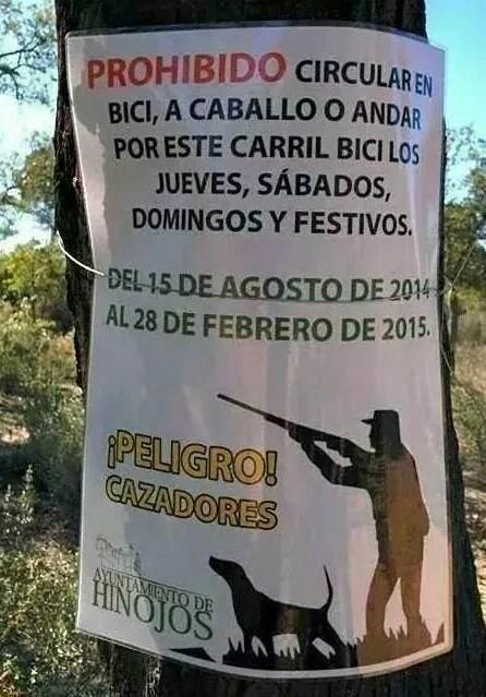 cartel caza