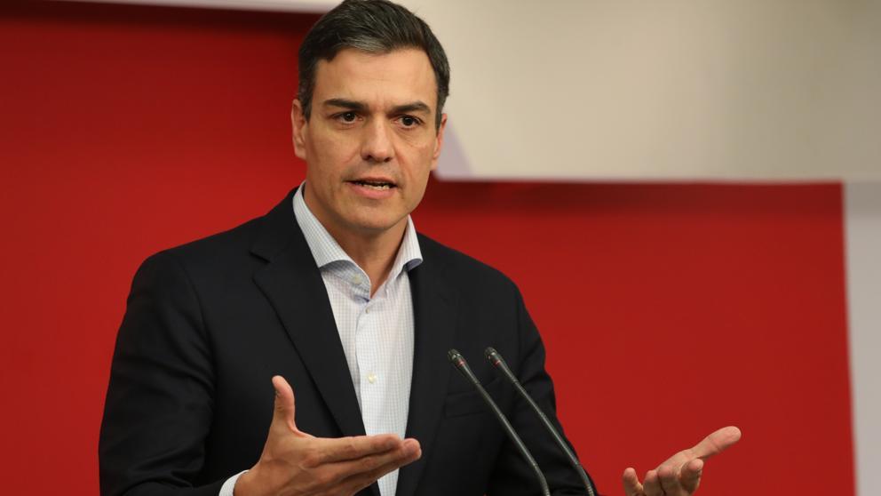 [PSOE] Comparecencia de Pedro Sánchez para explicar la Moción de Censura. Sa%CC%81nchez