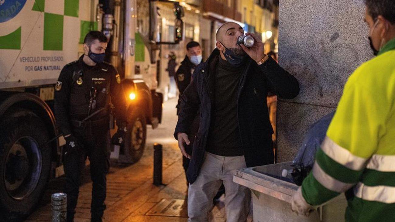Controles policiales para que se cumplan las medidas antiCovid en Madrid en Semana Santa |EFE