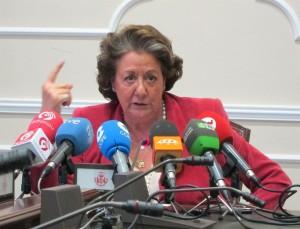 La Alcaldesa De Valencia, Rita Barberá, En La Rueda De Prensa.