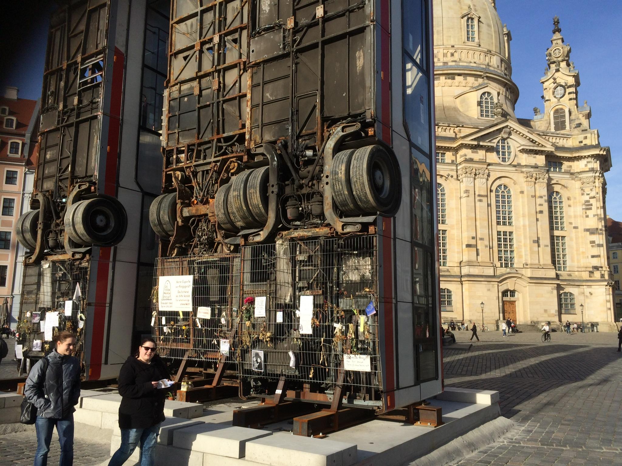Los autobuses verticales de Dresde