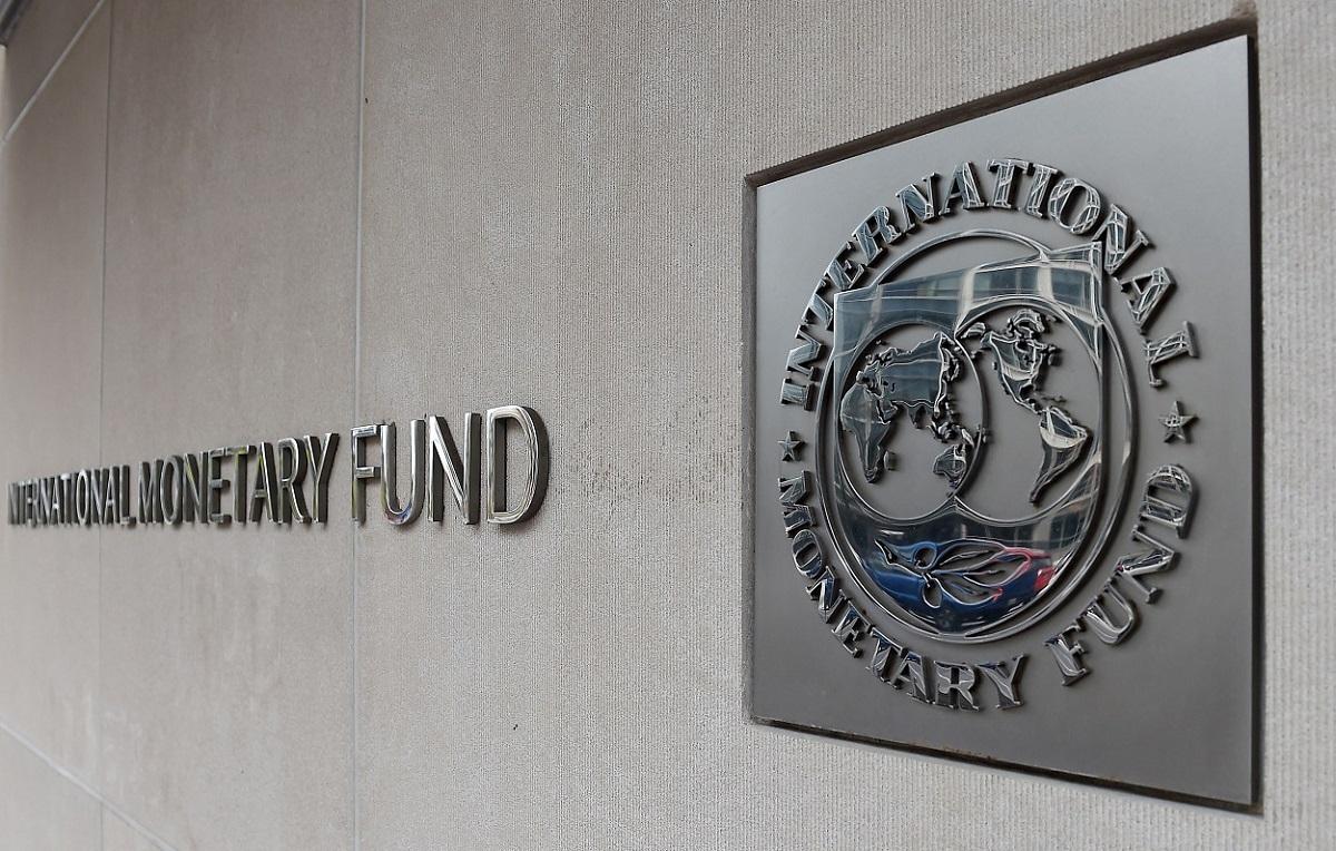 El logo del FMI en su sede en Washington. AFP/Olivier Douliery