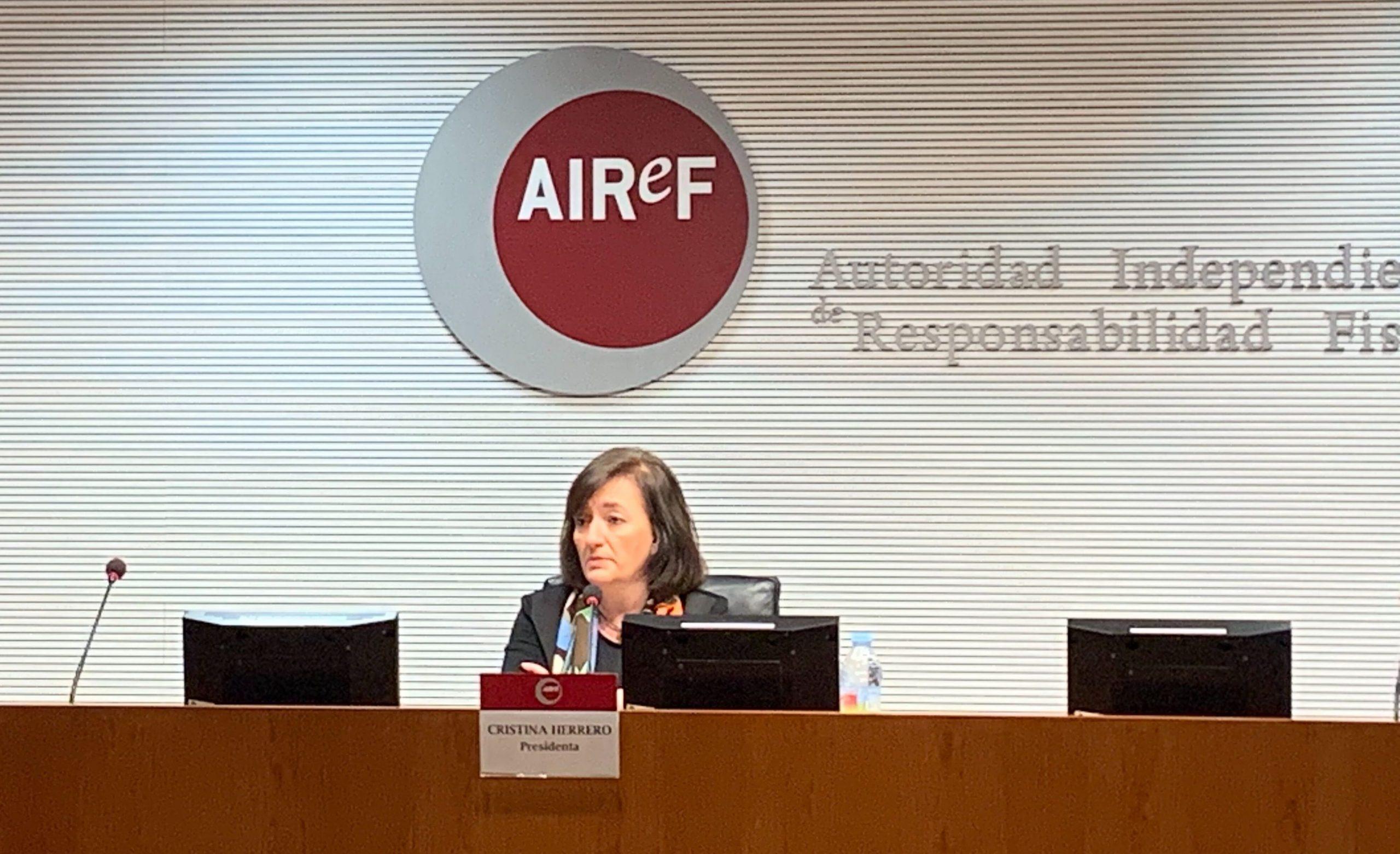 La presidenta de la La Autoridad Independiente de Responsabilidad Fiscal, Cristina Herrero