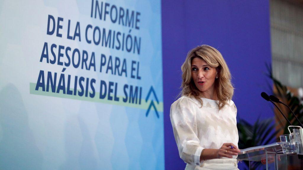 La ministra de Trabajo, Yolanda Díaz. / Emilio Naranjo (EFE)