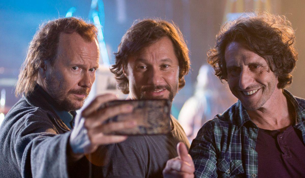 Un fotograma de 'Casi leyendas', con Santiago Segura, Diego Torres y Diego Peretti.