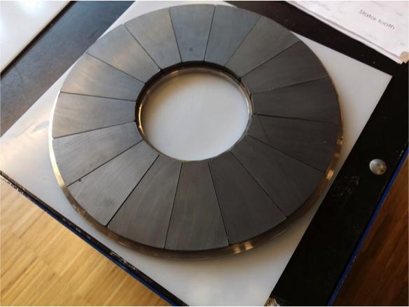 Detalle rotor de la moto