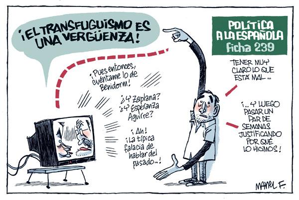 Genial viñeta de Manel Fontdevila publicada en el diario Público el 23 de septiembre de 2009