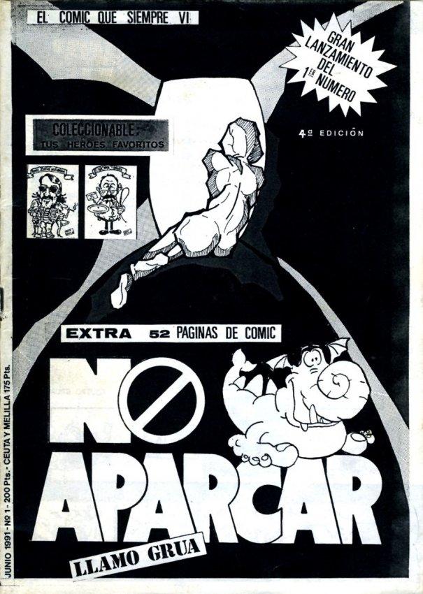 Portada del primer número del fanzine 'No aparcar llamo grúa'