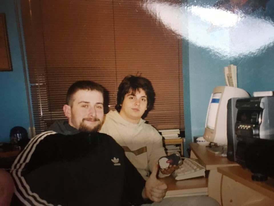Toni Mejías y DJ Bokah grabando en el año 2001.