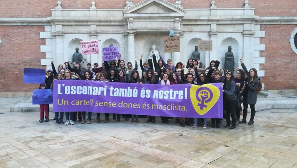 Manifestación en el 8M de 2018 del Col·lectiu de Dones Treballadores de la Música Valenciana.