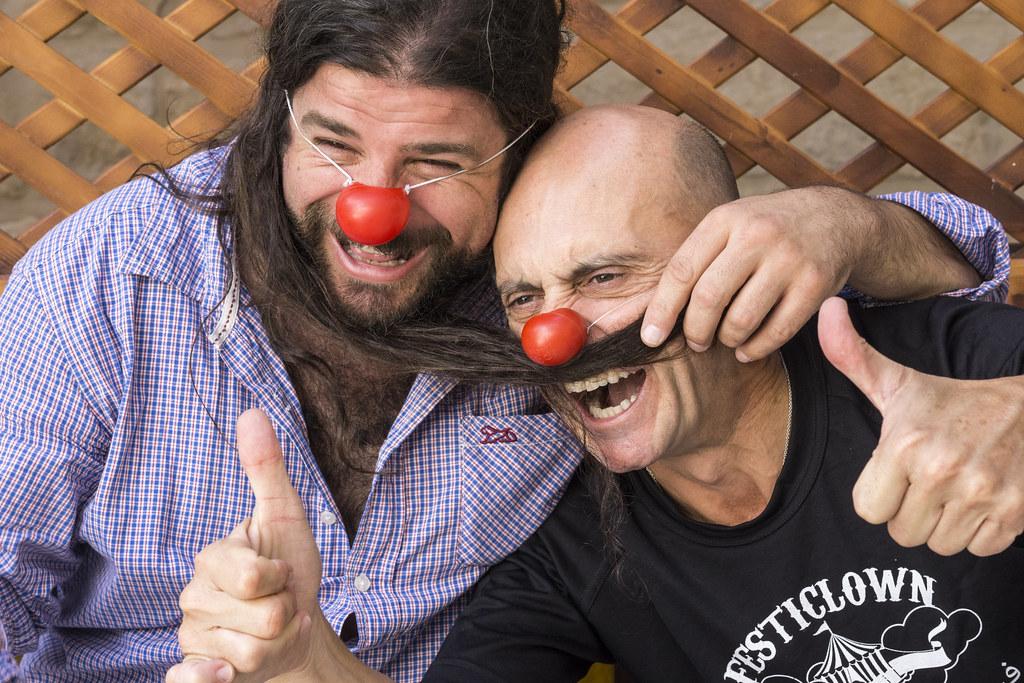 Iván Prado con Pepe Viyuela en Palestina. FOTO: Carlos Cazurro