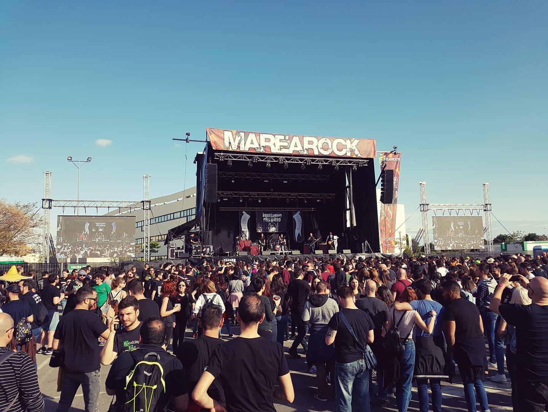 Vista del Festival Marearock, en su edición de 2018