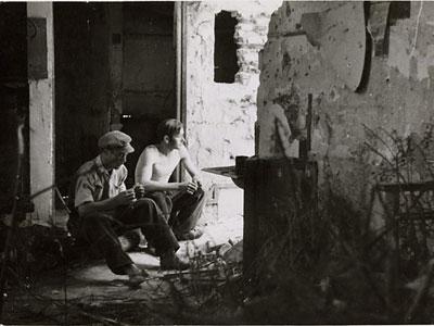 Dinamiteros republicanos en Carabanchel, en junio de 1937./GERDA TARO