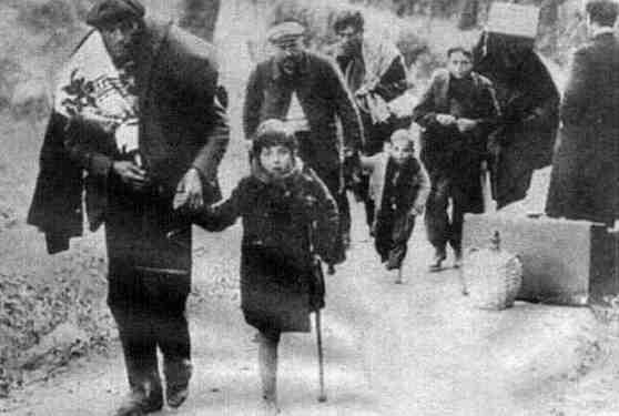 Refugiados bombardeos de Toledo